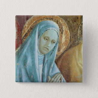 Head of Saint Anne from the Presentation of 2 Inch Square Button