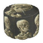 Head of Skeleton with Cigarette by Van Gogh Pouf