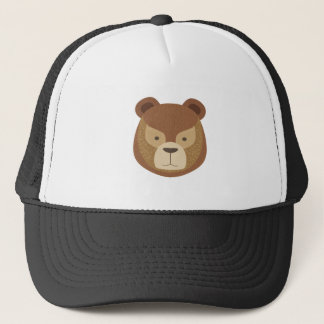 Head Of The Brown Bear Trucker Hat
