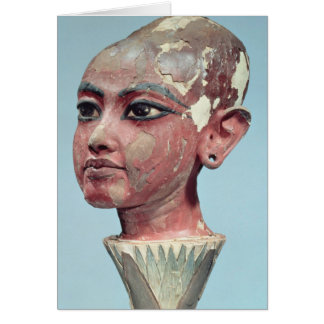 Head of the child king Tutankhamun emerging Card