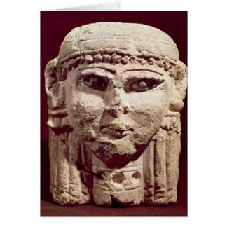 Head of the goddess Ishtar, from Amman, Jordan Card