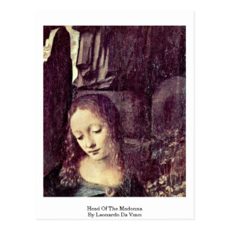 Head Of The Madonna By Postcard