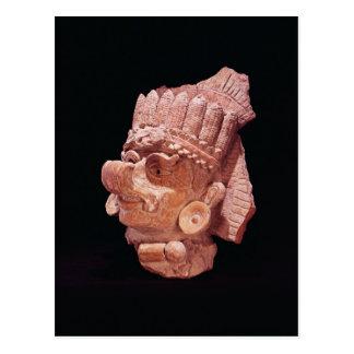 Head of the Mayan corn god, Oaxaca, c.500 AD Postcard