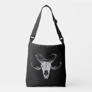 Head of the sheep on black bag
