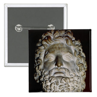 Head of Zeus 2 Inch Square Button