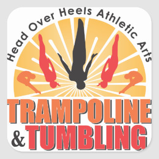 Head Over Heels Trampoline & Tumbling Square Sticker