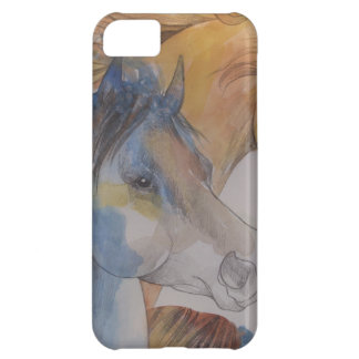 Head Portrait of Mustangs in Pastels iPhone 5C Cases