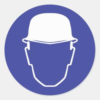 Head Protection Round Sticker