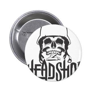 Head shot 2 inch round button