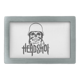 Head Shot Belt Buckle