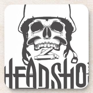Head shot beverage coaster
