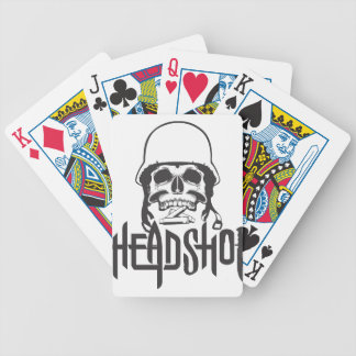 Head Shot Bicycle Playing Cards