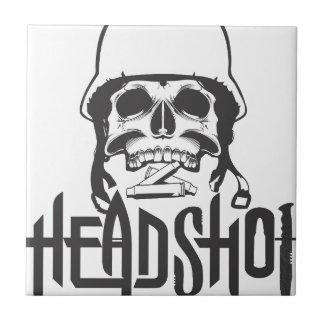 Head shot ceramic tile