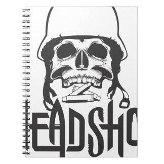 Head shot note books