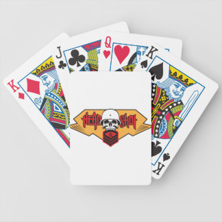 Head Shot print Bicycle Playing Cards