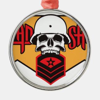 Head Shot print Metal Ornament
