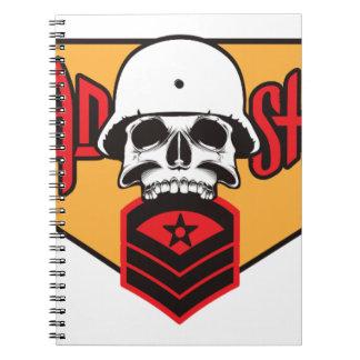 Head Shot print Notebook