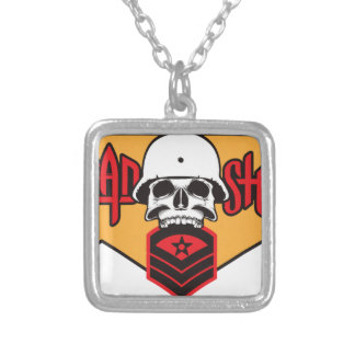 Head Shot print Silver Plated Necklace