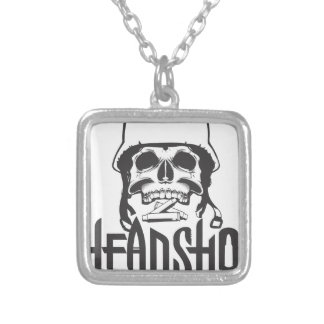 Head Shot Silver Plated Necklace