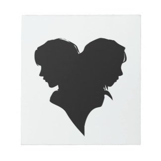 Head silhouettes notepad