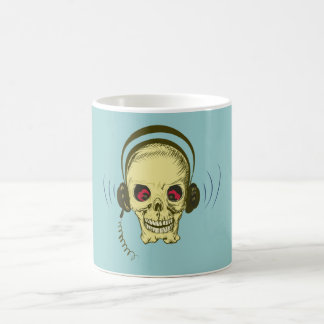 Head skull headphone skull earphones coffee mug
