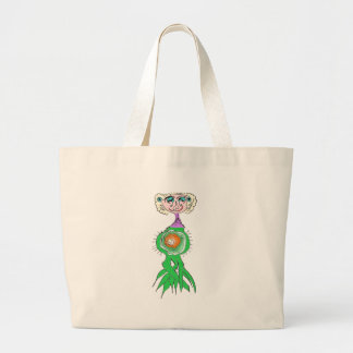 Head Sprout Large Tote Bag