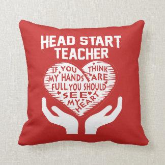 Head Start Teacher Throw Pillow