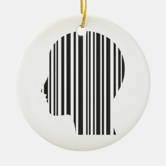 Head stroke a code ceramic ornament
