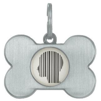 Head stroke a code pet ID tag