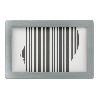 Head stroke a code rectangular belt buckles