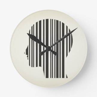 Head stroke a code wall clock