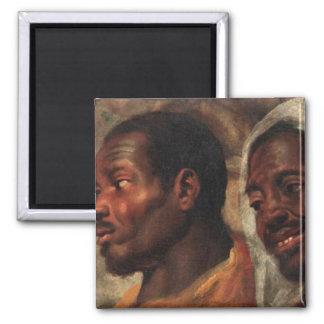 Head studies of two African men Magnet