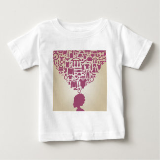 Head the girl clothes baby T-Shirt