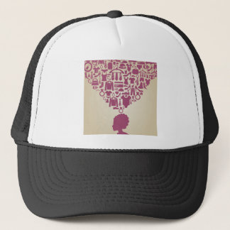 Head the girl clothes trucker hat