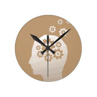 Head thinks round clock