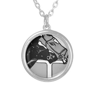 Head To Head Silver Plated Necklace