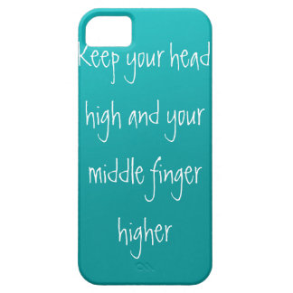 Head up, Finger higher iPhone 5 Case