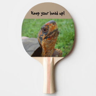 Head-up Turtle Ping Pong Paddle