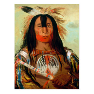 Head war chief of the Blood Indians. Postcard
