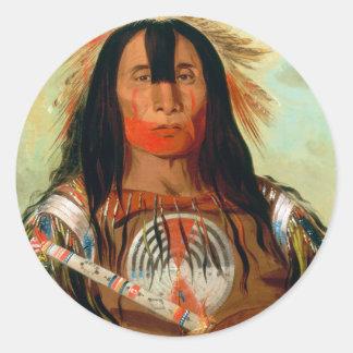 Head war chief of the Blood Indians. Round Sticker