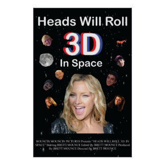Head Will Roll 3D: In Space Poster
