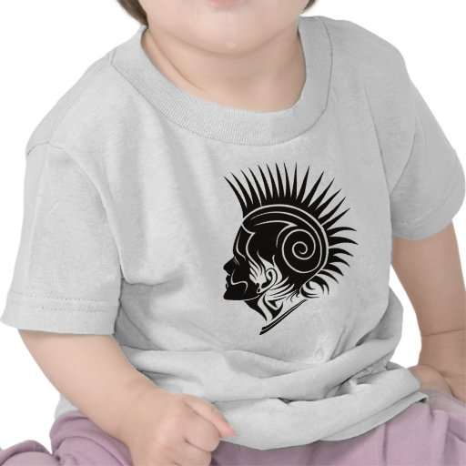 Head with Mohawk Tees