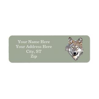 Head wolf - wolf illustration - american wolf