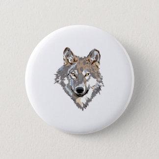 Head wolf - wolf illustration - american wolf 2 inch round button