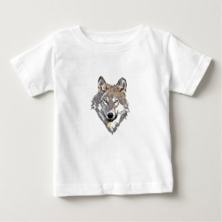 Head wolf - wolf illustration - american wolf baby T-Shirt
