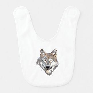 Head wolf - wolf illustration - american wolf bib