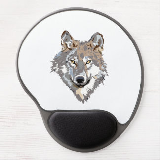 Head wolf - wolf illustration - american wolf gel mouse pad