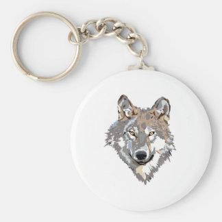 Head wolf - wolf illustration - american wolf keychain