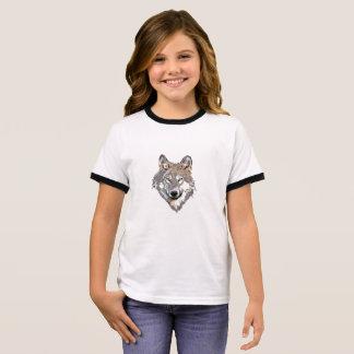 Head wolf - wolf illustration - american wolf ringer T-Shirt