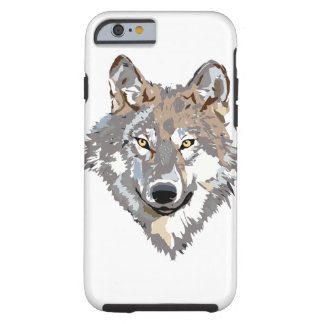 Head wolf - wolf illustration - american wolf tough iPhone 6 case